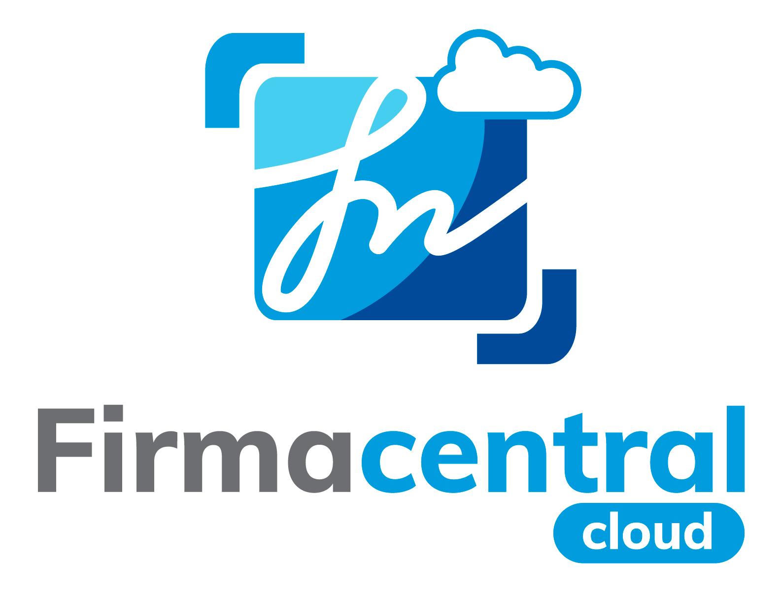 Logotipo Firmacentral- vertical fondo blanco