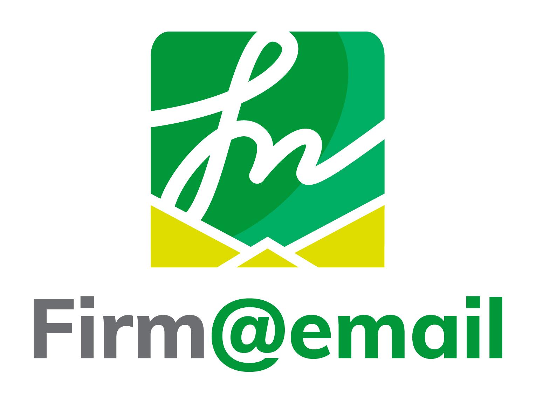 Logotipo Firmaemail - vertical fondo blanco