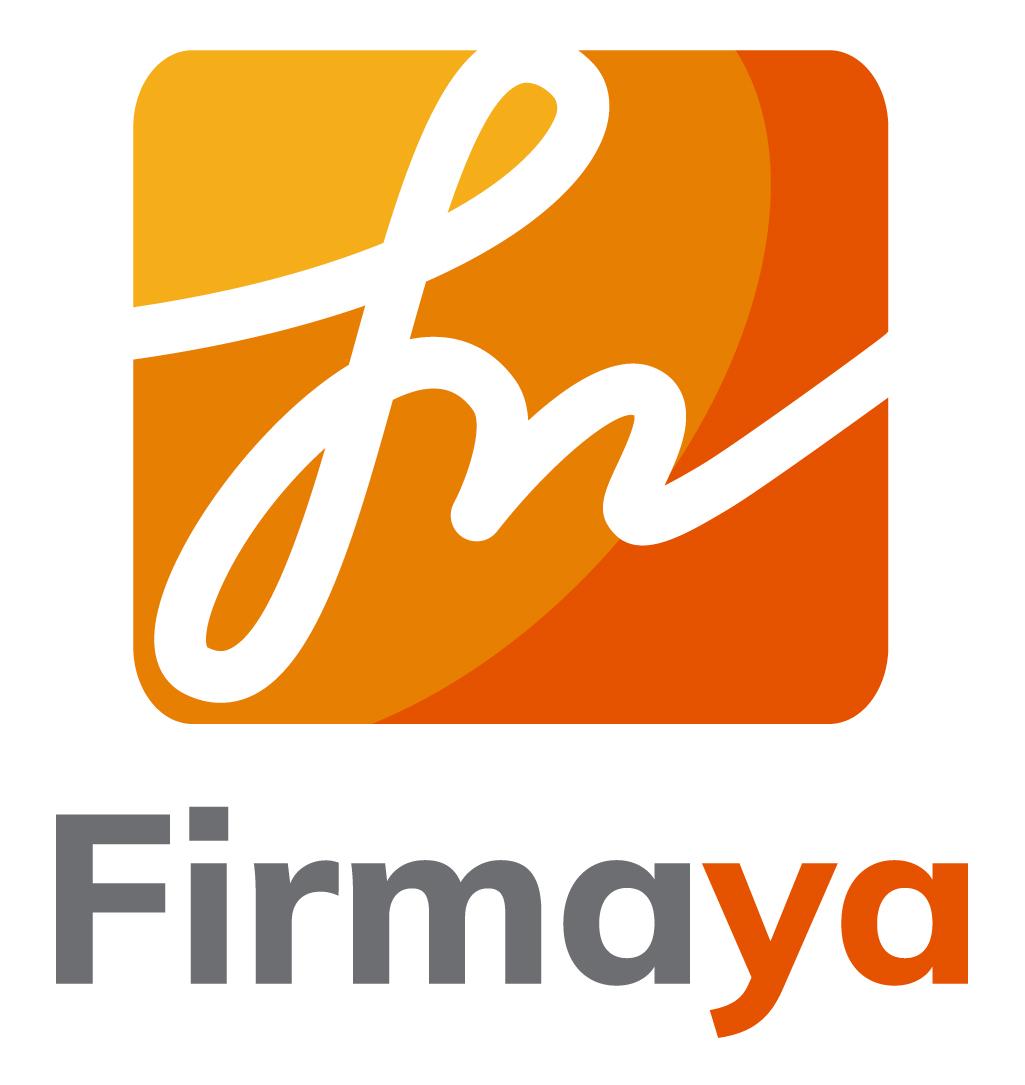 Logo Firmaya - vertical fondo blanco