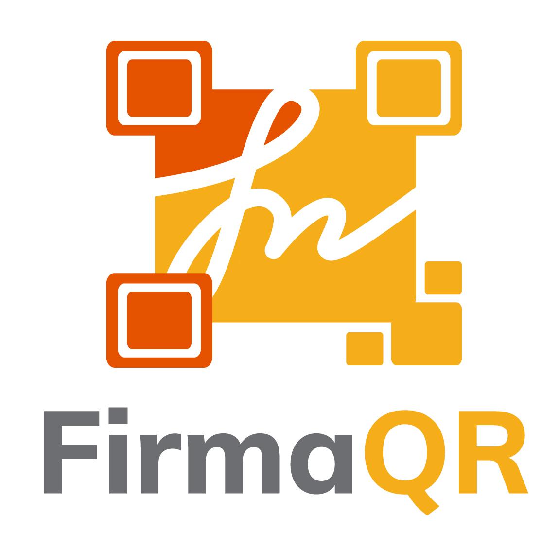 Logotipo firmaQR - vertical fondo blanco
